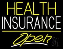 Health Insurance Open LED Neon Sign