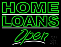 Home Loans Open LED Neon Sign