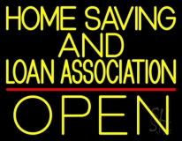 Home Savings And Loan Association Open LED Neon Sign