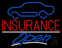 Auto Insurance With Car Logo Open LED Neon Sign