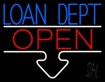 Loan Dept Open LED Neon Sign