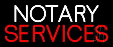 Notary Services Open LED Neon Sign