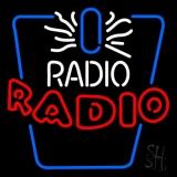 White and Red Radio Radio LED Neon Sign