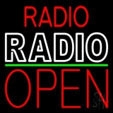 Radio Radio Open Block LED Neon Sign