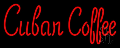 Red Cuban Coffee LED Neon Sign
