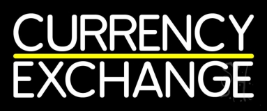 White Currency Exchange LED Neon Sign