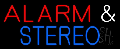 Alarm And Stereo LED Neon Sign