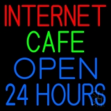 Internet Cafe Open 24 Hrs LED Neon Sign