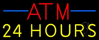 Atm 24 Hrs 1 LED Neon Sign