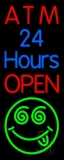 Atm 24 Hrs Open 1 LED Neon Sign