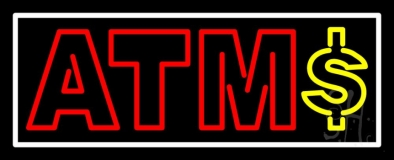 Atm With Dollar Symbol 1 LED Neon Sign