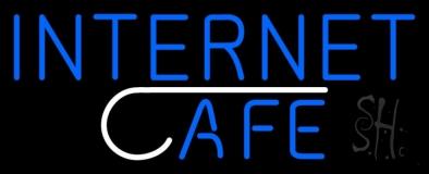 Blue Internet Cafe Block LED Neon Sign