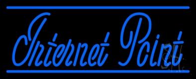 Blue Internet Point LED Neon Sign