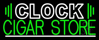 Clock Cigar Store LED Neon Sign