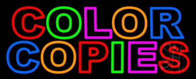 Color Copies 3 LED Neon Sign