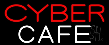 Cyber Cafe Neon Sign