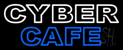 Double Stroke Cyber Cafe LED Neon Sign