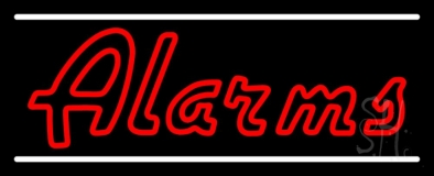 Double Stroke Red Alarms LED Neon Sign