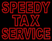 Double Stroke Speedy Tax Service LED Neon Sign