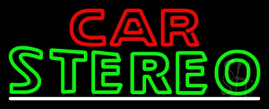 Green Car Stereo LED Neon Sign