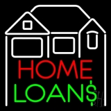 Home Loans With Home Logo LED Neon Sign