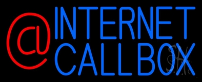 Internet Callbox With Logo LED Neon Sign