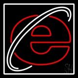 Internet Web Logo With White Border LED Neon Sign