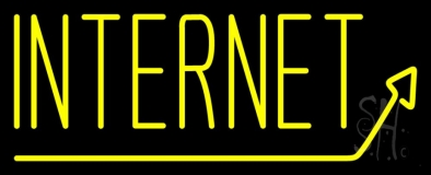 Internet With Arrow LED Neon Sign