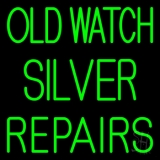 Old Watch Silver Repairs LED Neon Sign