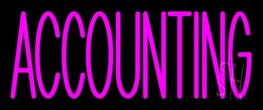 Pink Accounting LED Neon Sign
