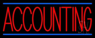 Red Accounting Blue Lines LED Neon Sign