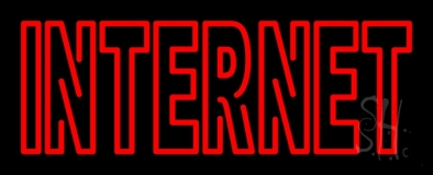 Red Double Stroke Internet LED Neon Sign