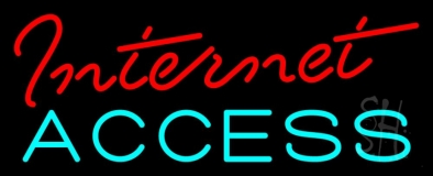 Red Internet Access LED Neon Sign