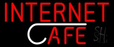 Red Internet Cafe LED Neon Sign