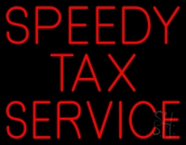 Speedy Tax Service LED Neon Sign