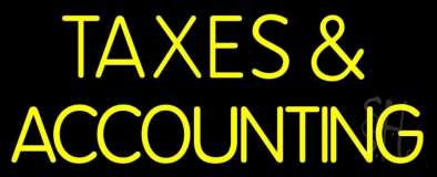 Taxes And Accounting 1 LED Neon Sign