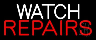 Watch Repairs Neon Sign