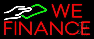 We Fianance Note Logo 1 LED Neon Sign