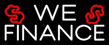 We Finance Dollar Logo 1 LED Neon Sign