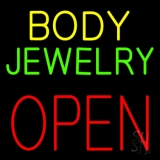 Body Jewelry Open Block LED Neon Sign