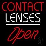 Contact Lenses Script1 Open White Line LED Neon Sign