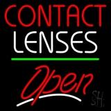 Contact Lenses Script2 Open Green Line LED Neon Sign