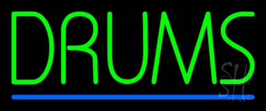 Drums Blue Line LED Neon Sign