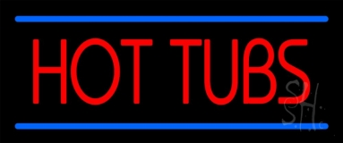 Hot Tubs LED Neon Sign
