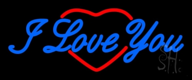 I Love You Logo Neon Sign