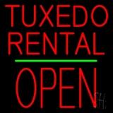 Tuxedos Rental Block Open Green Line LED Neon Sign