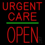 Urgent Care Block Open Green Line LED Neon Sign