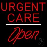 Urgent Care Script1 Open White Line LED Neon Sign