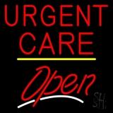 Urgent Care Script2 Open Yellow Line LED Neon Sign