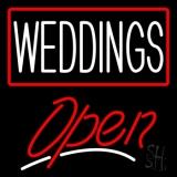 Weddings Script2 Open LED Neon Sign